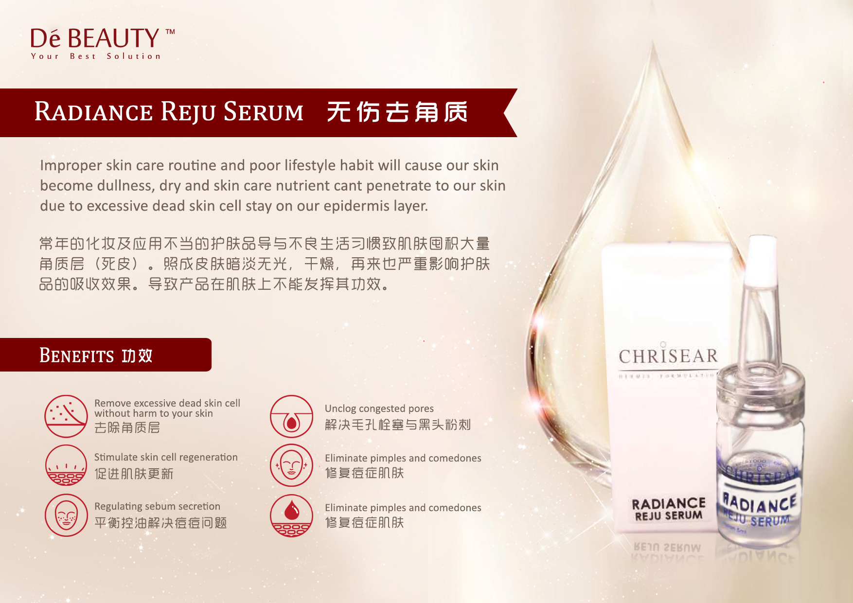 De Beauty Chrisear Radiance Reju Serum