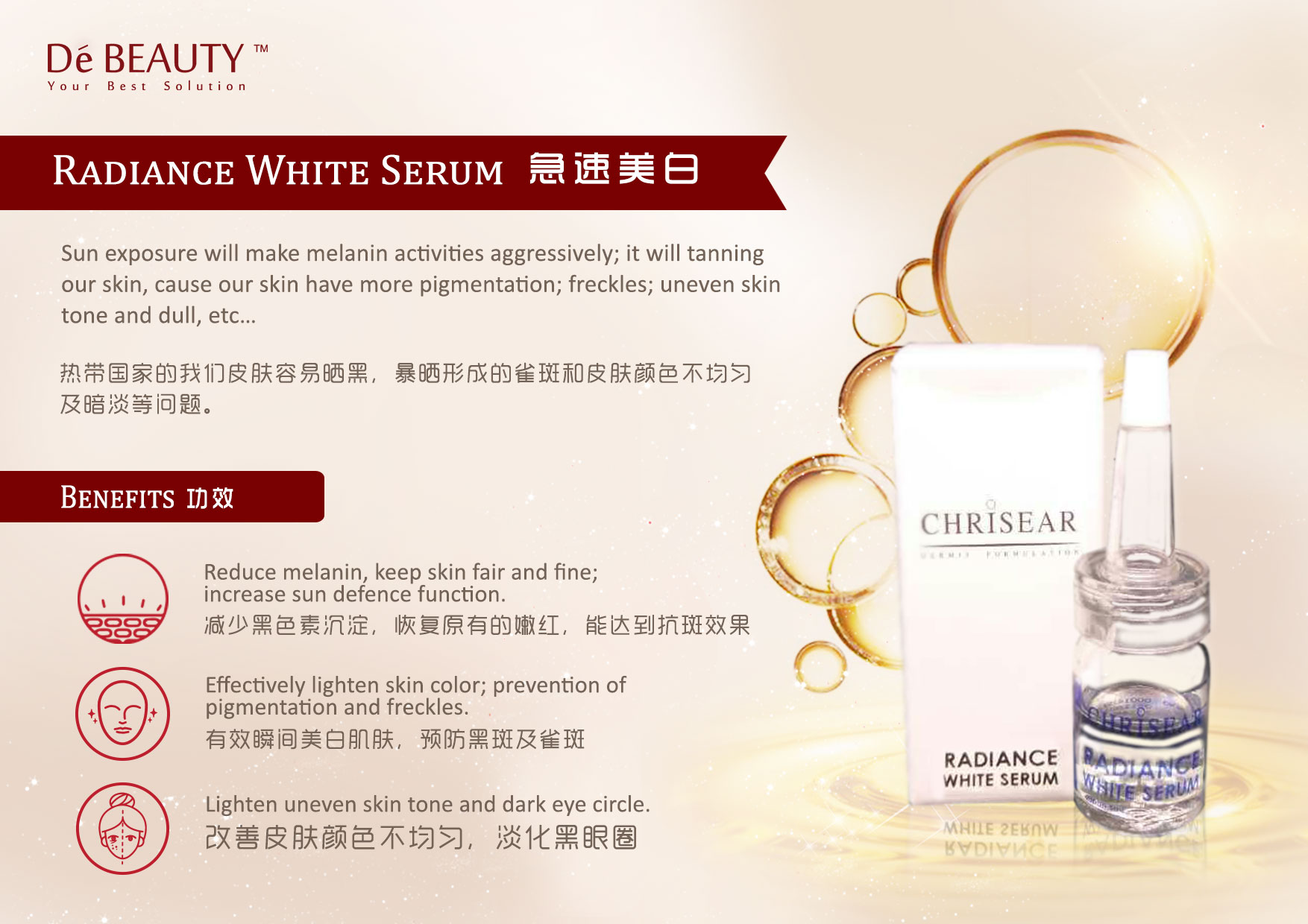 De Beauty Chrisear Radiance White Serum